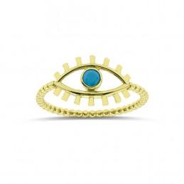 Firuze Taşlı Göz Yüzük