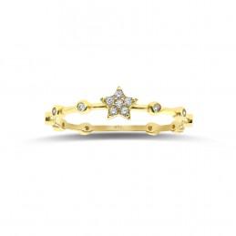 Minimal Taşlı Yıldız Yüzük