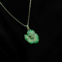 Yeşil Çiçek Kolye